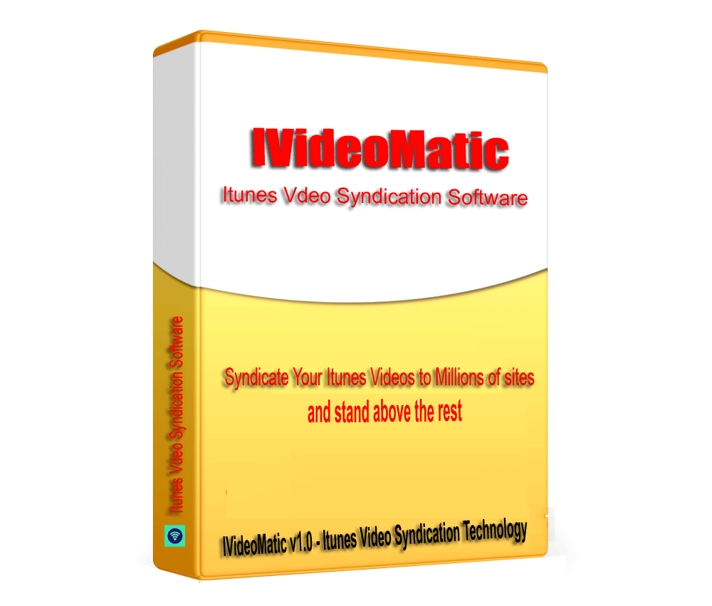 IVideoMatic - Itunes Video SEO link building & Syndication Software V1.0.1