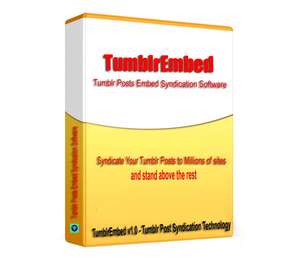 TumblrEmbed - Tumblr Posts Embed Syndication Software V1.0.1