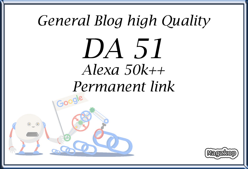 Backlinks permanent DA 51 dofollow site google news aproved High Quality