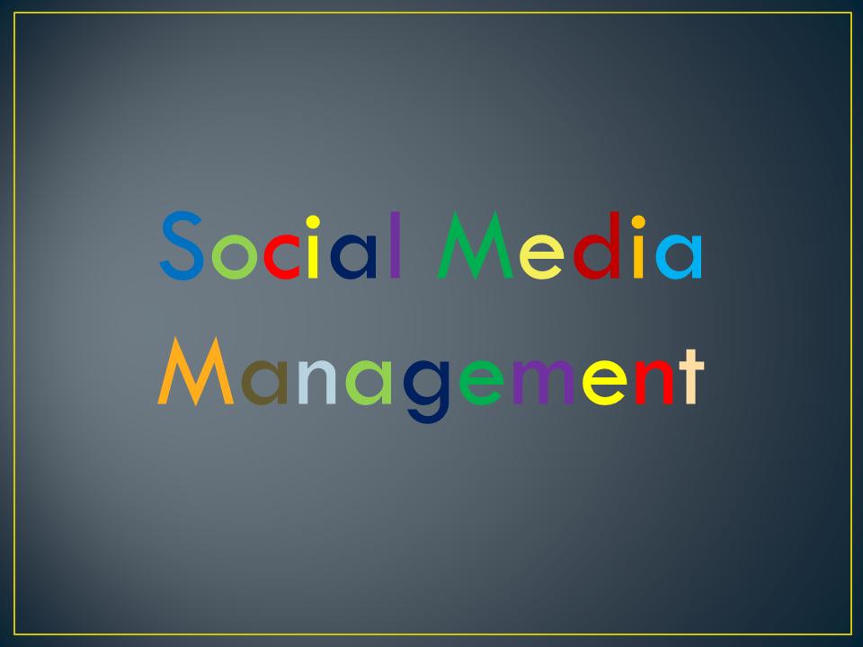 Social Media Management for 1 Month
