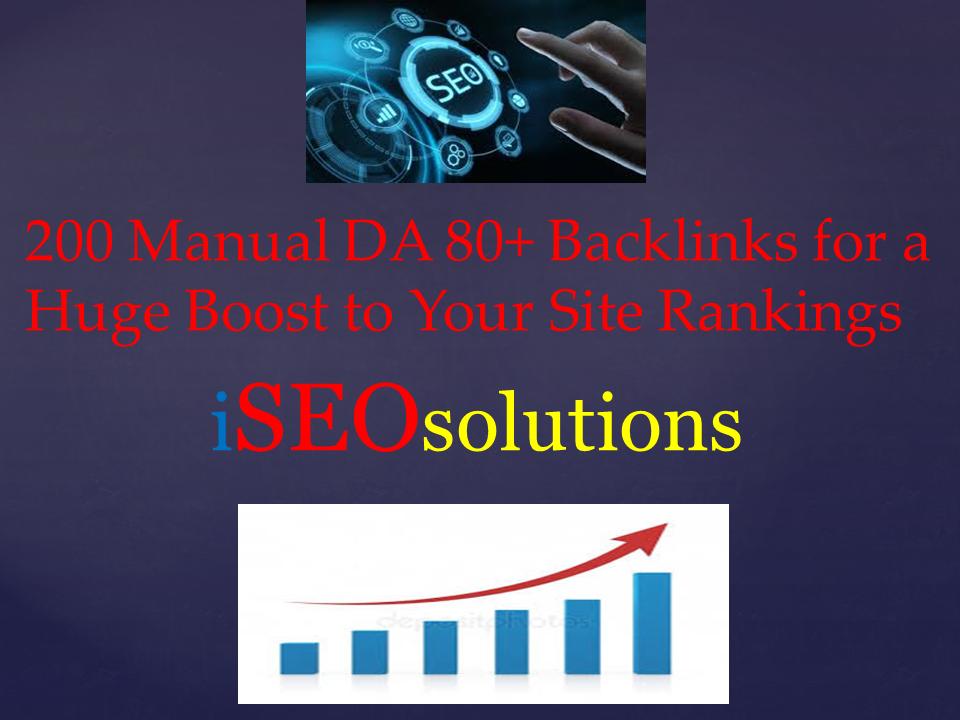 200 Manual Backlinks from High DA PA CF TF Domains