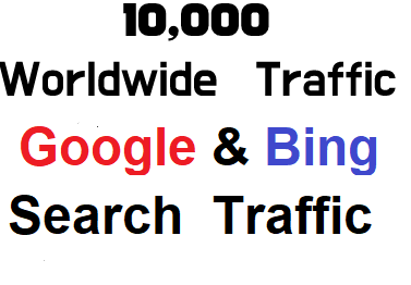 10,000 + Worldwide web traffic from Major Search Engine