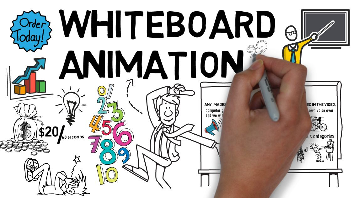 create 30 seconds whiteboard explainer video