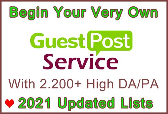 2,200 High DA/PA/CF Updated 2021 Free Guest Posts Lists