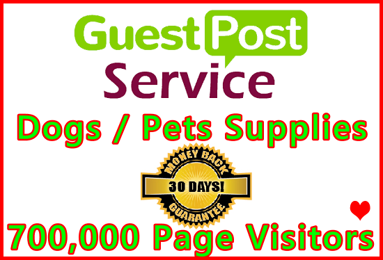 Publish Your Pets Blog Guest Post on DA 50+ Dogs Supplies Website