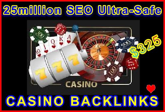 25million SEO Ultra-Safe Casino Backlinks