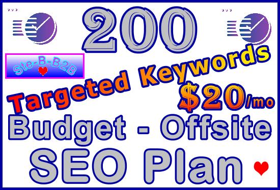 Target 200 Keywords Budget - Offsite SEO