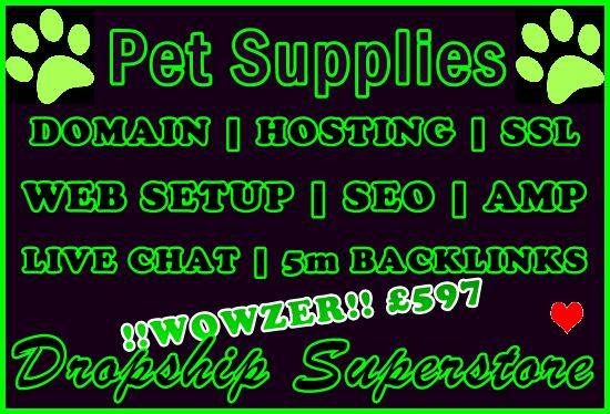 Dropship Supported Pet Supplies Retail eCommerce Superstore