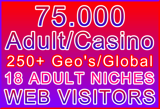 25,000 Adult or Casino Genuine Human Web Visitors