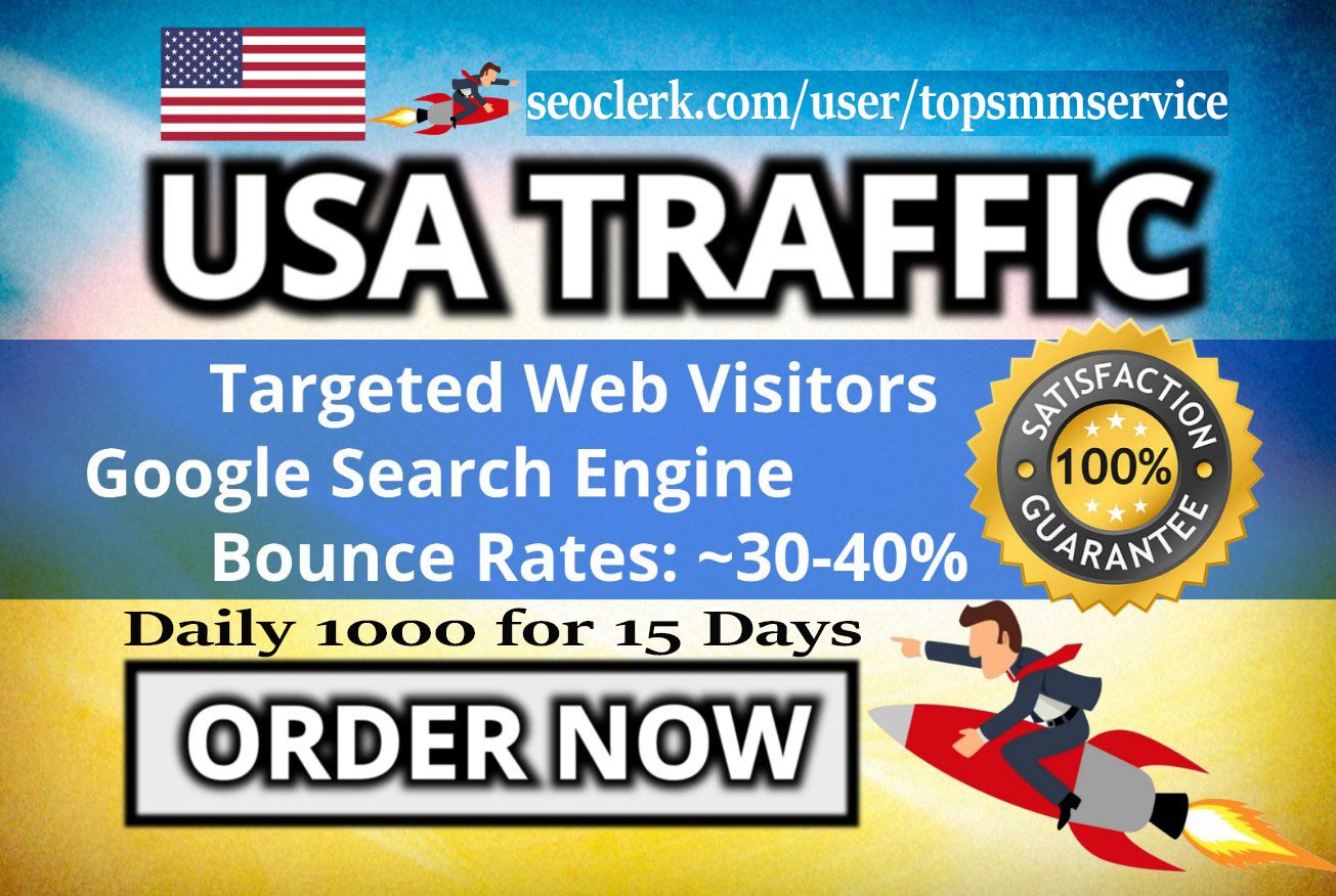 bring real google USA visitors targeted web traffic