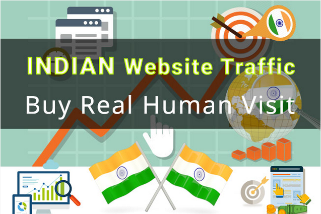 ONE MONTH INDIA Targeted Unlimited Unique Organic Website Visitors Traffic Real