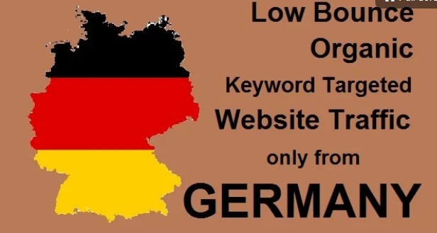 Unique Organic keyword targeted low bounce germany web traffic for 30 DAYS