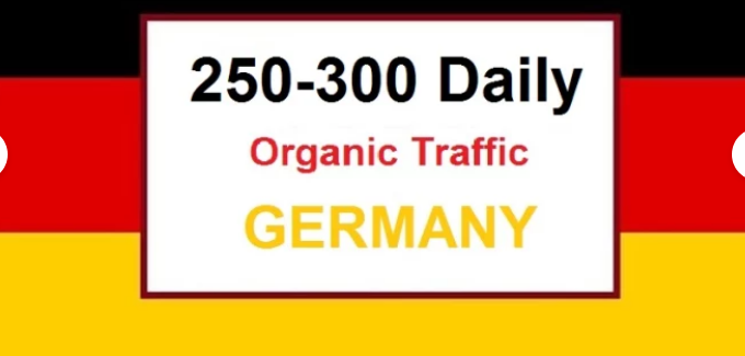 200 to 300 Organic German Real Visitors Traffics for 30 days daily