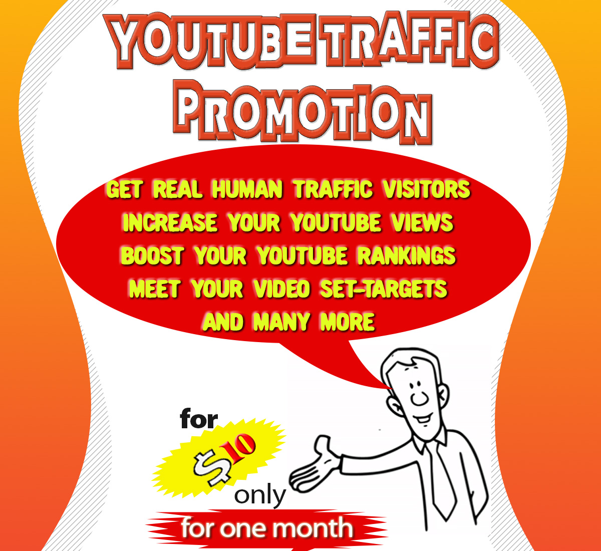 Drive Real Traffic Visitors to your Youtube Video for one month