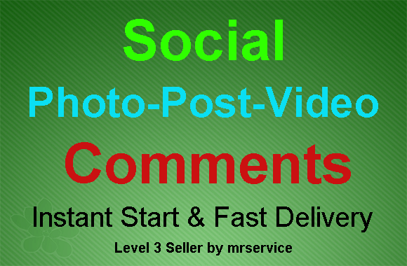 Instant High Quality Social Photo Post Comments