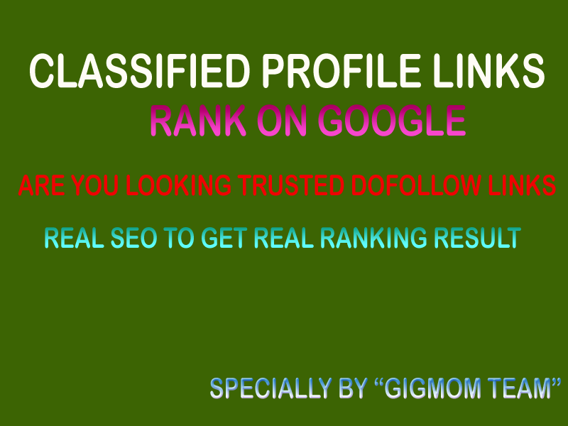 Trusted Dofollow 100 Classified Profile Links to Boost Rank