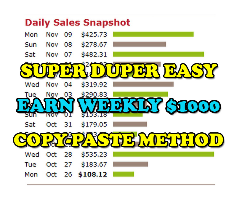 Make Money 100-1000 USD Per Week Using Copy-Paste Method
