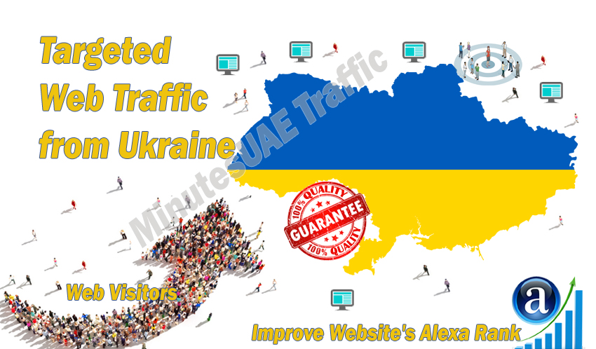 Ukrainian web visitors real targeted Organic web traffic from Ukraine