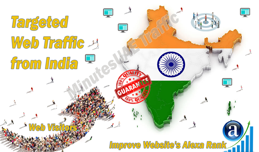 Indian web visitors real targeted Organic web traffic from India