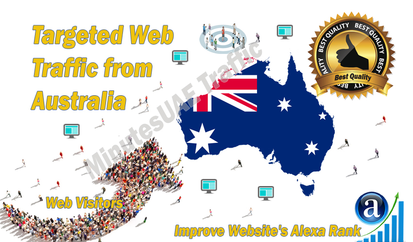 Australian web visitors real targeted Organic web traffic from Australia