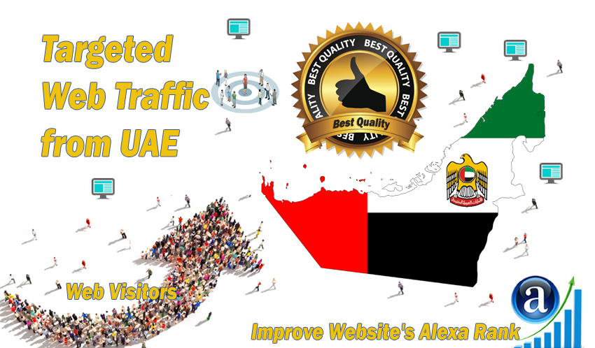Emirati web visitors real targeted Organic web traffic from UAE,  United Arab Emirates