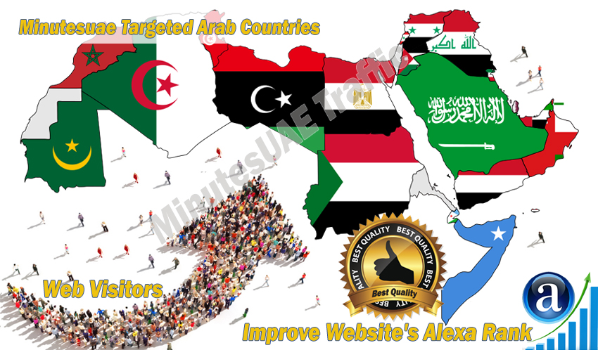 Arab web visitors real targeted Organic web traffic from Arab countries