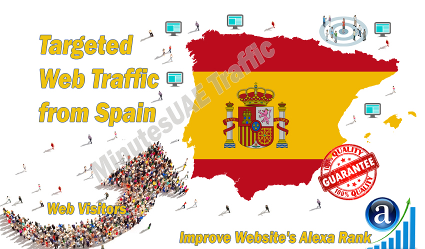 Spanish web visitors real targeted Organic web traffic from Spain