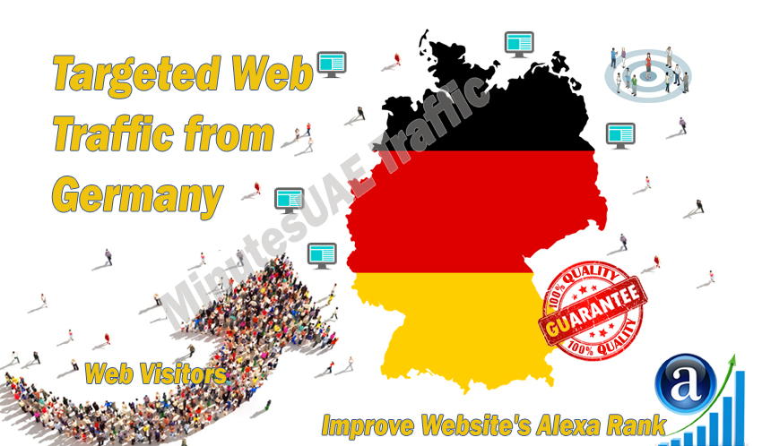 German web visitors real targeted Organic web traffic from Germany