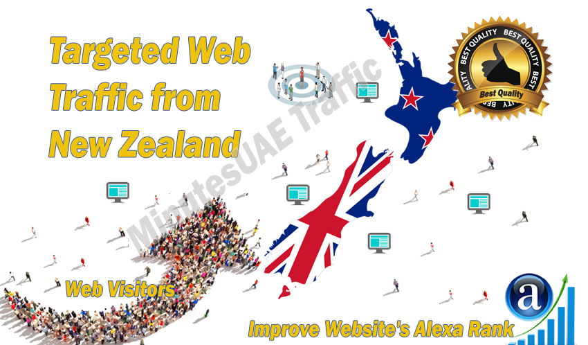 New Zealander web visitors real targeted high-quality web traffic from New Zealand