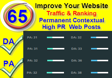 65 High PR DA PA Permanent Backlinks To Improve Your Ranking