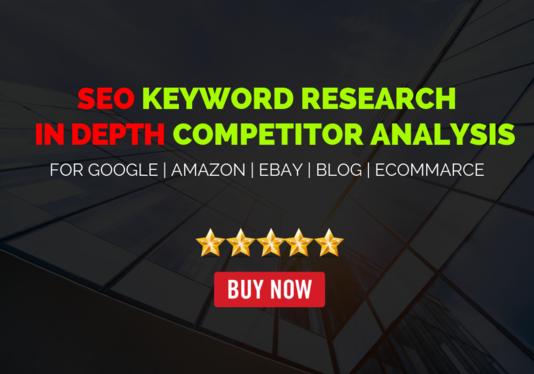 I will do Profitable in depth SEO keyword research