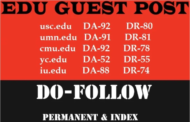 publish 4 edu guest posts on usc, cmu edu da 50 above