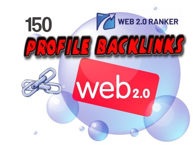 150 Web 2.0 profiles Backlinks for SEO