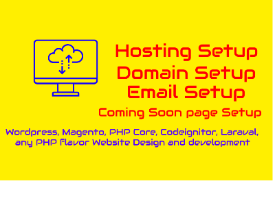 Setup Hosting,  Setup Domain,  Setup Email Plus 5 pager website for 5
