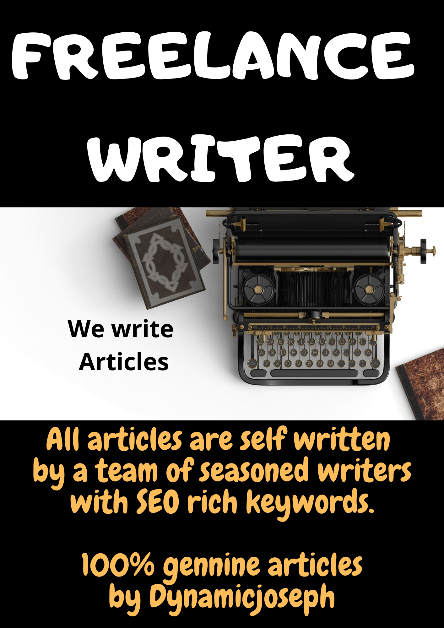 Get an awesome genuine self written article