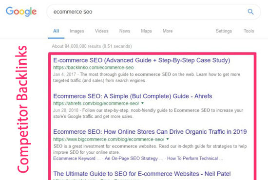 50 relevant backlink on DR 50+ sites after analyse your competitor