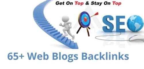65+ Premium Quality Web blogs for Organic Search Rankings