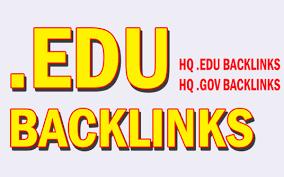 build 5 US based edu backlinks,  excellent for website