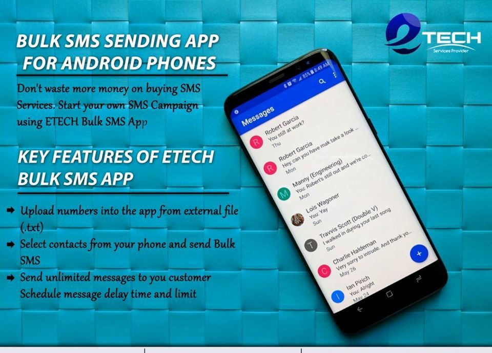 Bulk SMS marketing mobile app android
