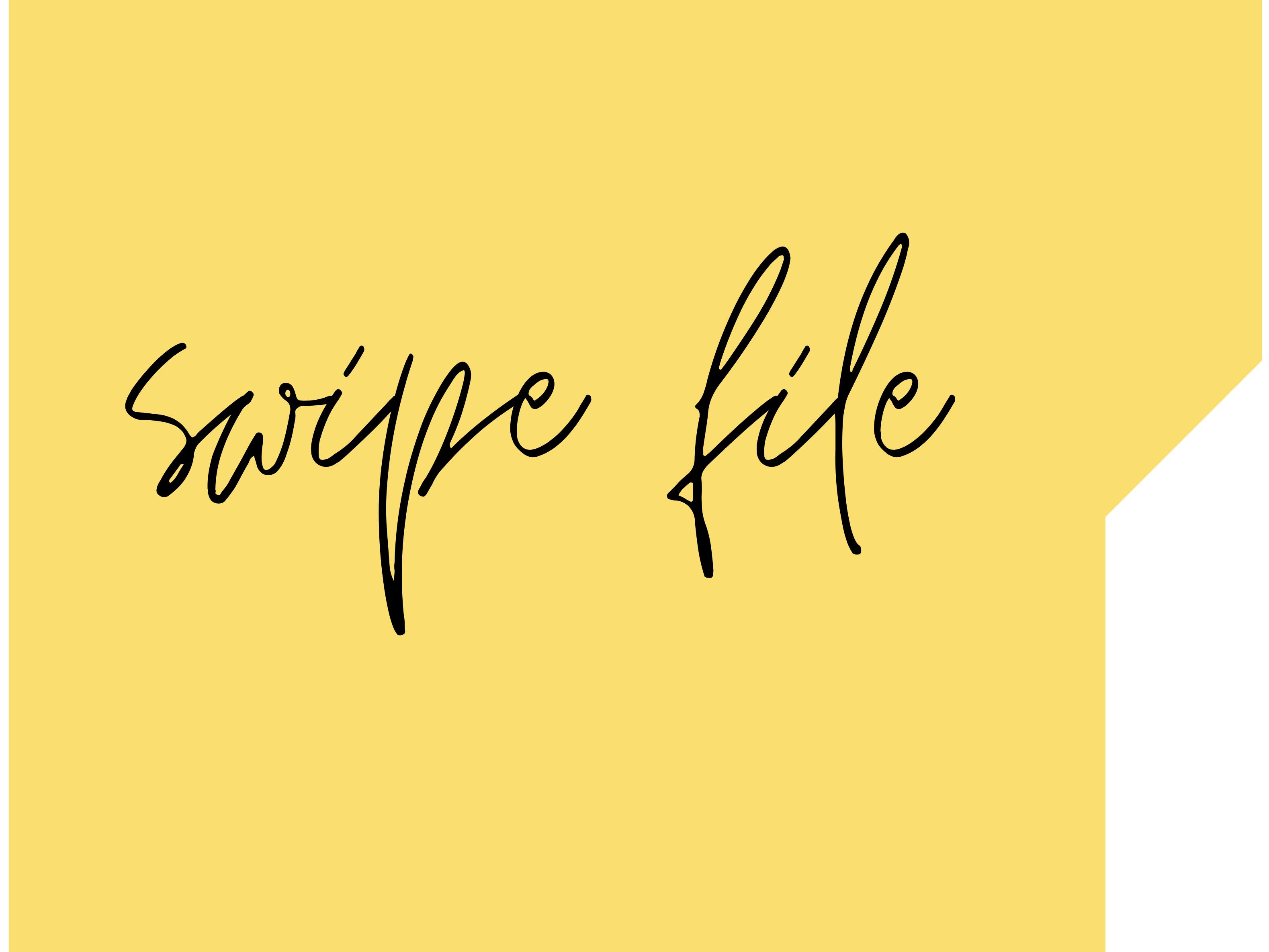 I will give you my Premium Copywriting Swipe file