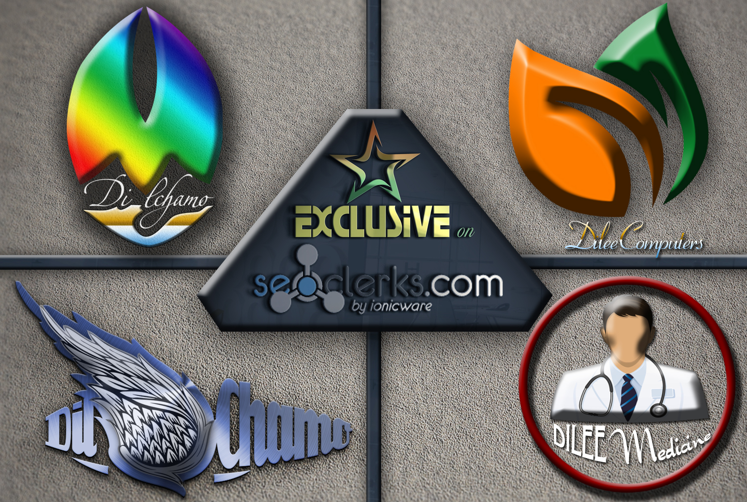 I will design a Professional creative 3d logo in 12 hours
