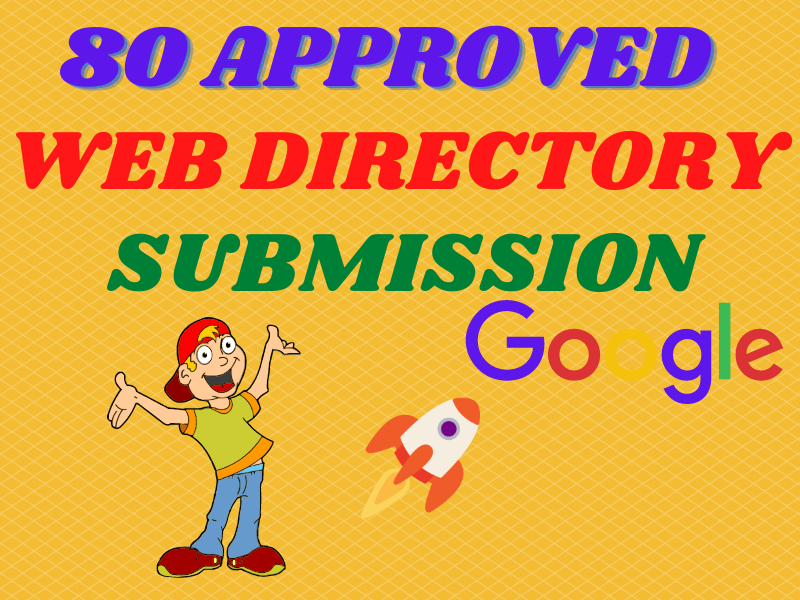 I will give live 80 approved web directory submissions