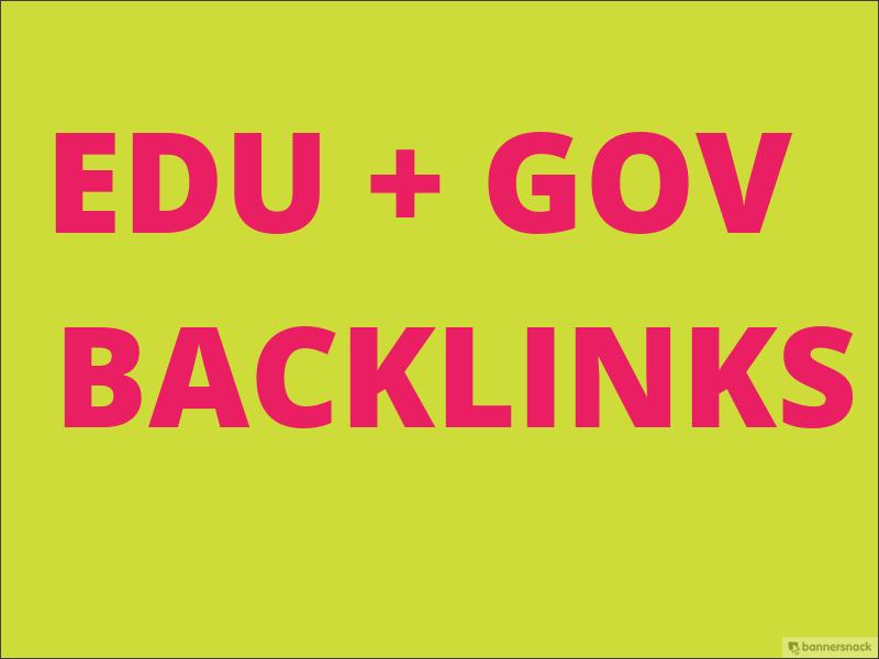 I will Provide 20 Edu/GOV high quality backlinks ranking your website