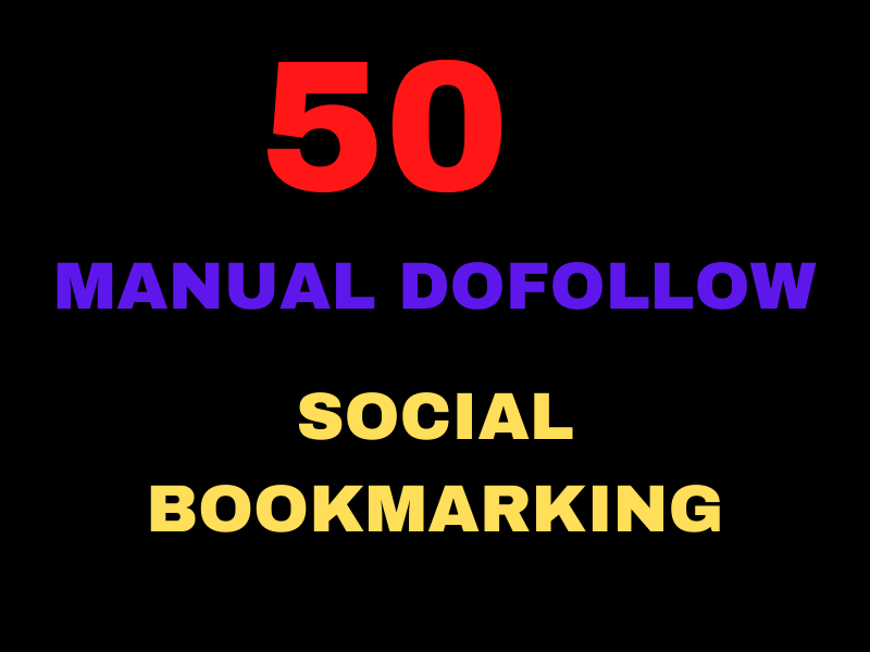 I will Submit 50 Manual DA SOCIAL BOOKMARKING