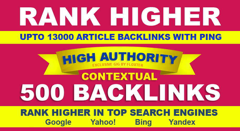 Get 500 Live High Authority Contextual Backlinks With Ping
