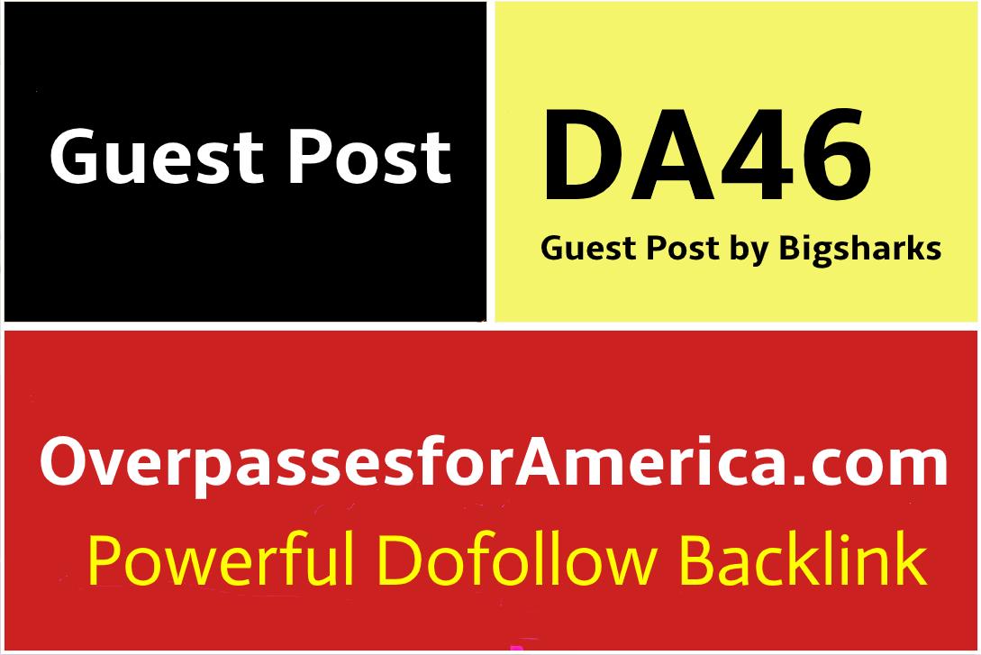 Guest post on OverpassesForAmerica,  Overpassesforamerica. com