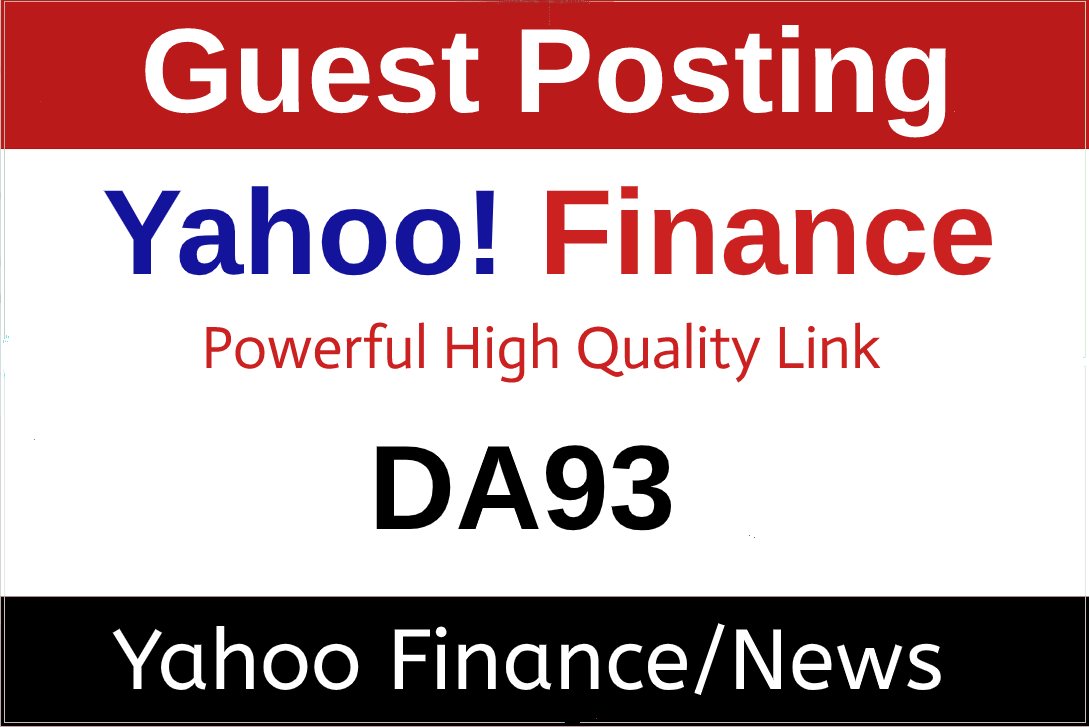 I Will Publish A Press Release/Guest Post on Yahoo Finance/News,  DA99