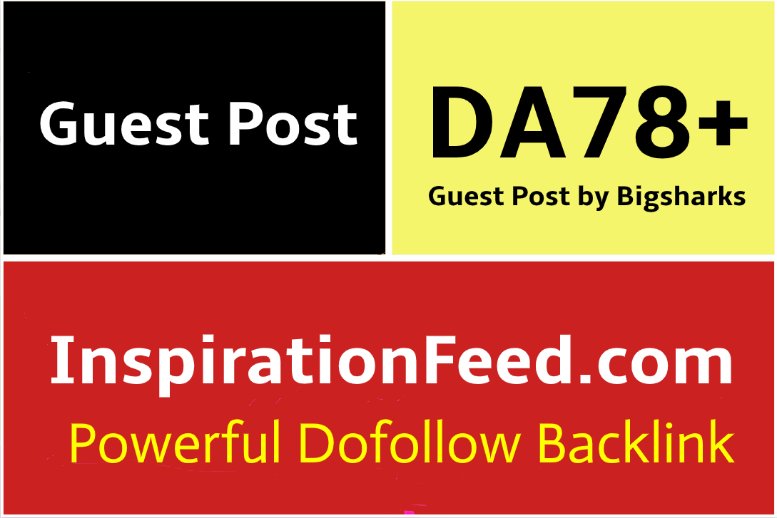 I Will Publish a Guest Post on InspirationFeed,  InspirationFeed. com
