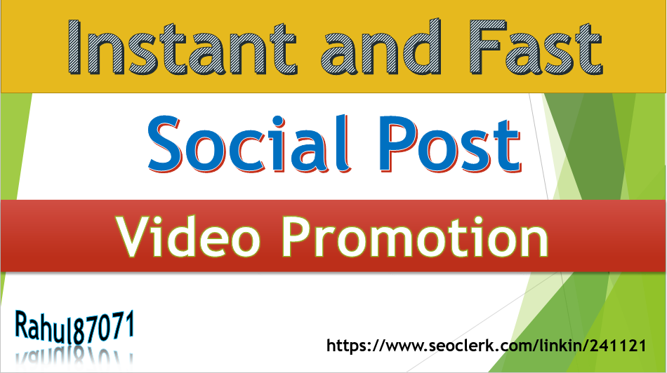 Get Super Fast Picture and Video Promotion