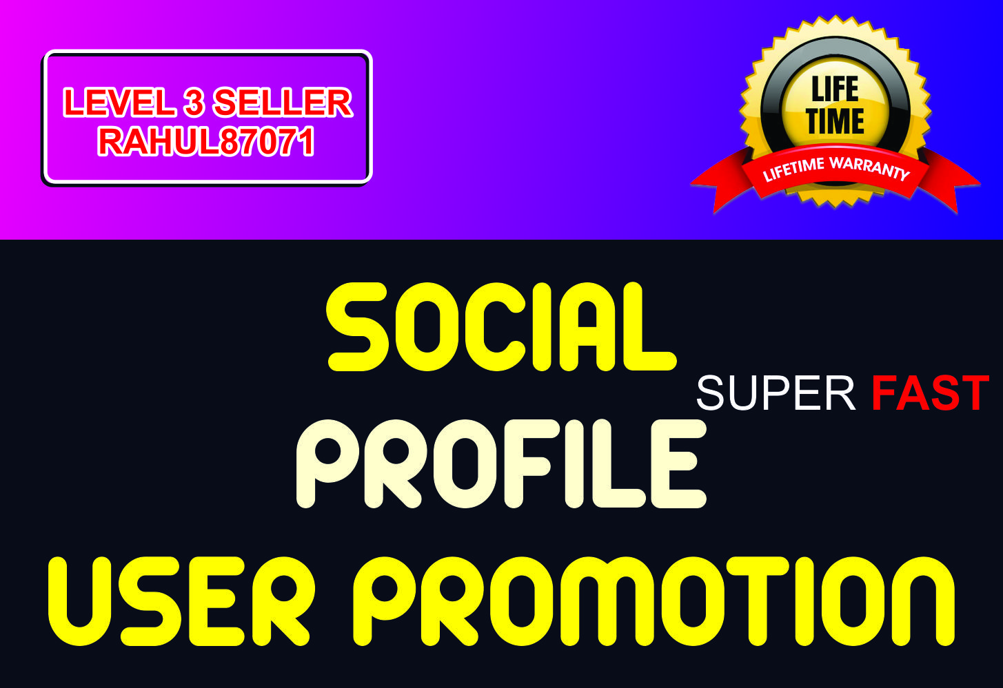 Do Social Profile Users Promotion Fast and High Quality Service